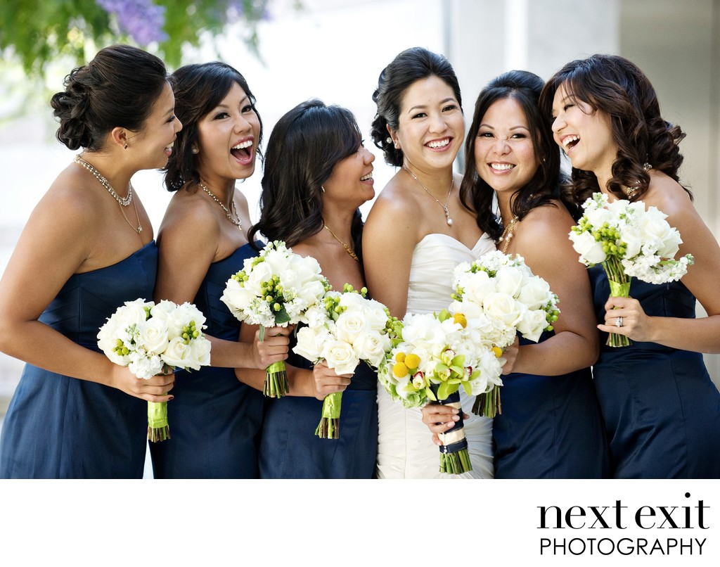 Asian Bridal Party Wedding Photographer - Los Angeles Wedding, Mitzvah & Portrait Photographer - Next Exit Photography