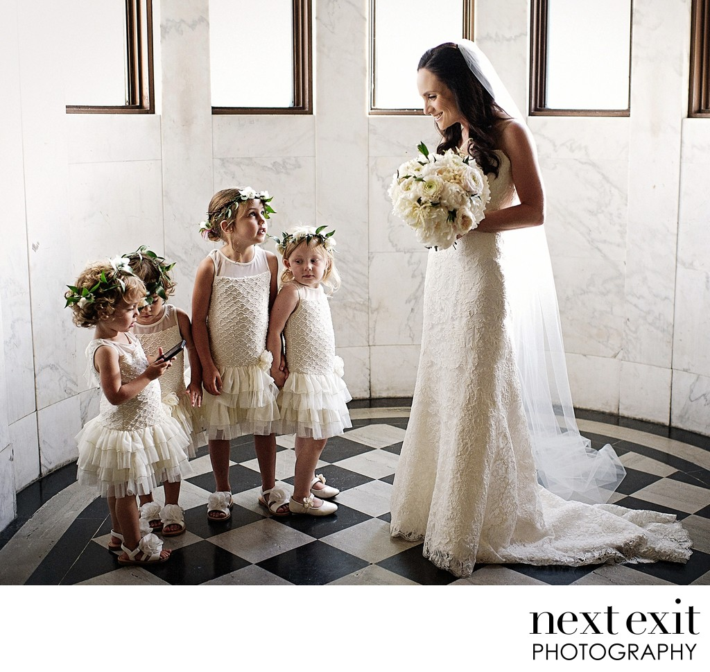 Flower Girls at Vibiana Wedding in Downtown Los Angeles - Los Angeles Wedding, Mitzvah & Portrait Photographer - Next Exit Photography