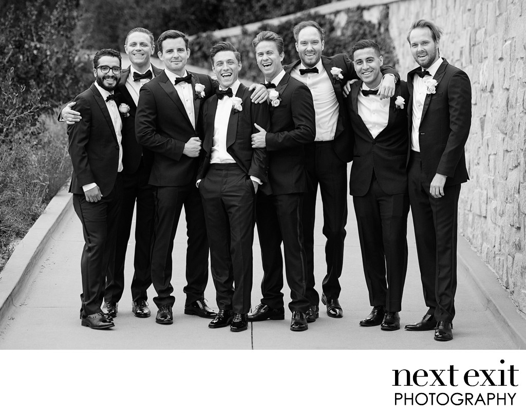 Groomsmen at The Resort At Pelican Hill - Los Angeles Wedding, Mitzvah & Portrait Photographer - Next Exit Photography