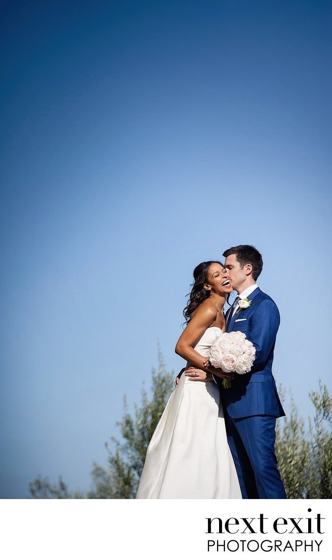Blue Sky Bride and Groom