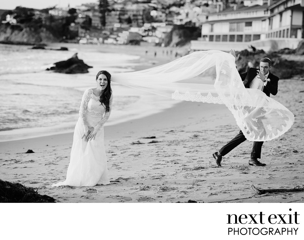 Fun Beach Wedding Photographer - Orange Country Wedding, Mitzvah & Portrait Photographer - Next Exit Photography
