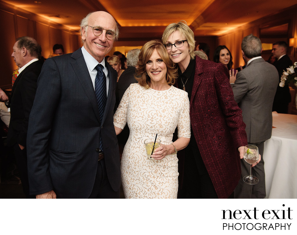 Larry David - Carol Leifer - Jane Lynch at Leifer Wedding