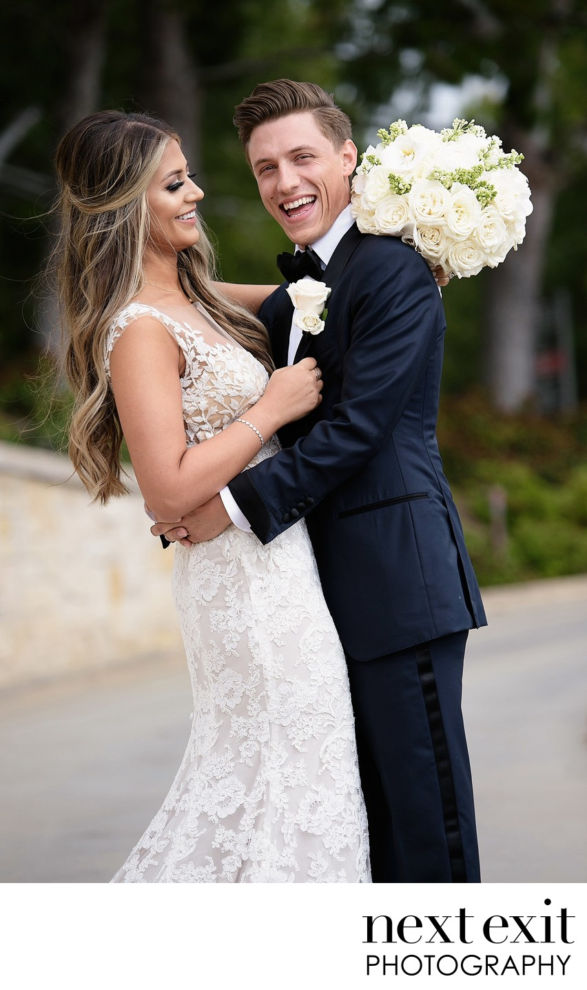 Bride and Groom at The Resort At Pelican Hill - Los Angeles Wedding, Mitzvah & Portrait Photographer - Next Exit Photography