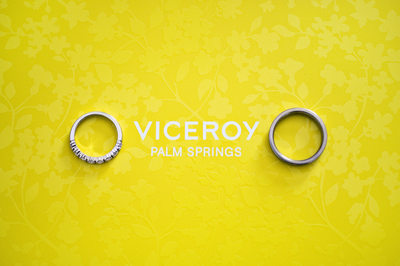 Wedding Details - Wedding rings at Viceroy