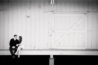 Black and White Engagement Session Photographer