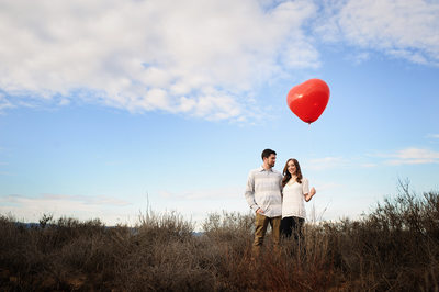 Balloon Engagement Session Photography