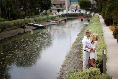 Venice Canal Engagement Session Photographer