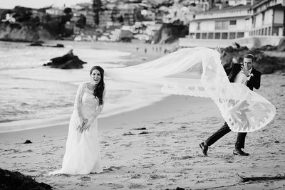 Fun Beach Wedding Photographer