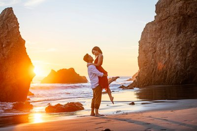 Malibu Beach Engagement Session Photography