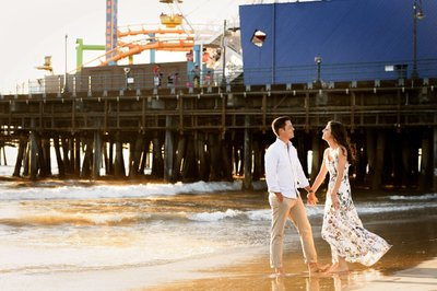 Santa Monica Pier Engagement Session Photographer