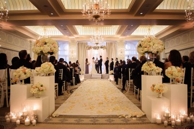Candle Lit Wedding Ceremony in the Collonade Ballroom
