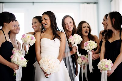 Laughing Brides Maids at the Hotel Casa Del Mar
