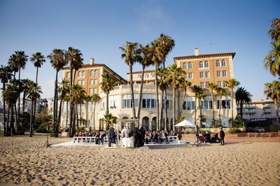 Beach Ceremony at the Hotel Casa Del Mar