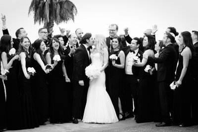 Big Bridal Party at the Hotel Casa Del Mar