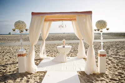 Stunning Ceremony Chuppa on the Beach in Santa Monica