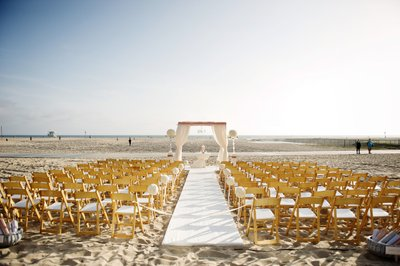 Beach Ceremony Set Up at the Hotel Casa Del Mar - Wedding Photography