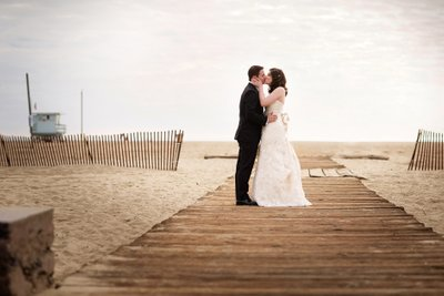 A Kiss on the Boardwalk in Santa Monica