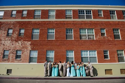 Bridal Party Photo at the Casa Del Mar