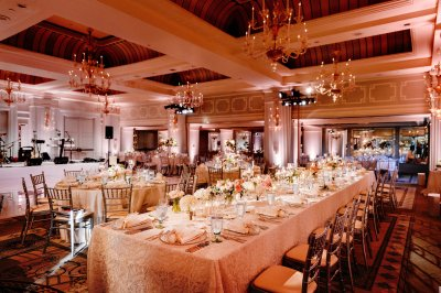 Gorgeous Orange and Pink Reception Decor