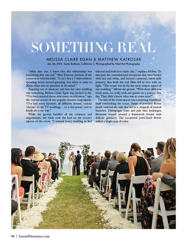 Inside Weddings Feature
