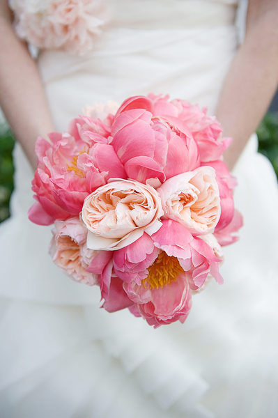 Wedding Details - Pink Peony Bridal Bouquet