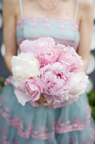 Wedding Details - Pink and White Peony Bridal Bouquet