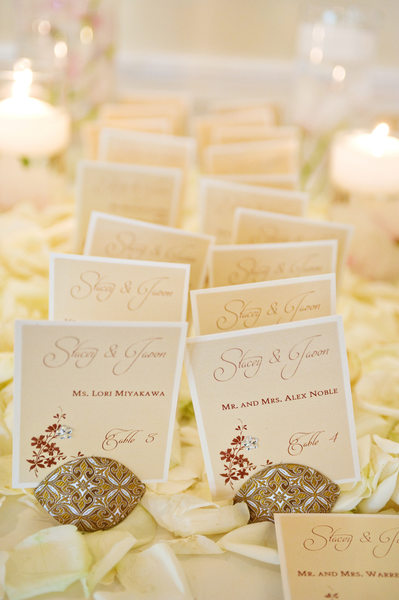 Wedding Details - Gorgeous placecards