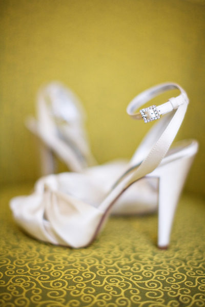Wedding Details - Wedding Shoes on Yellow