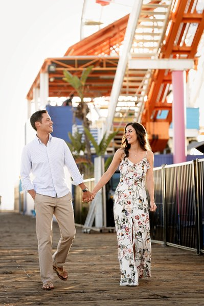 Santa Monica Engagement Session Photographer