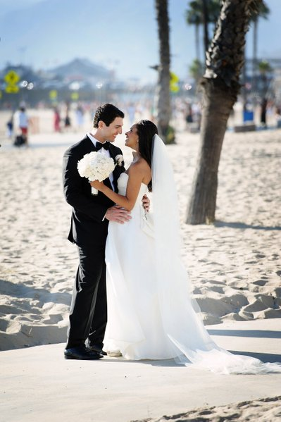 Happy Married Couple on the Beach in Santa Monica
