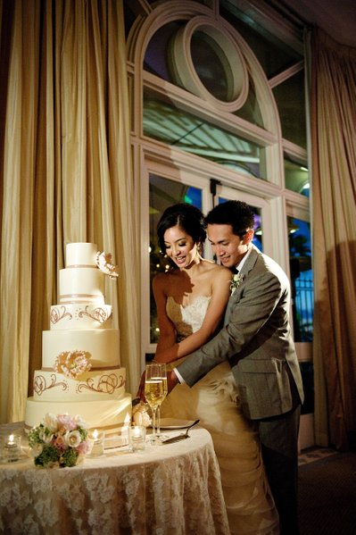 Cutting the Cake inside the Collonade Ballroom