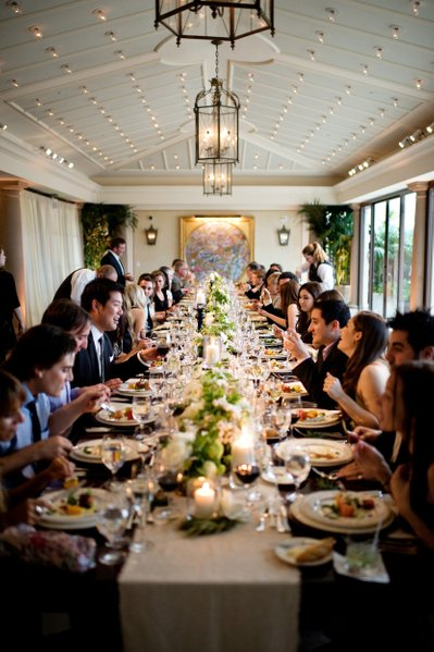 Elegant Long Table Dinner Reception Wedding Photography - Los Angeles Wedding, Mitzvah & Portrait Photographer - Next Exit Photography