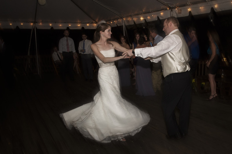 Bride and Groom cutting the rug.