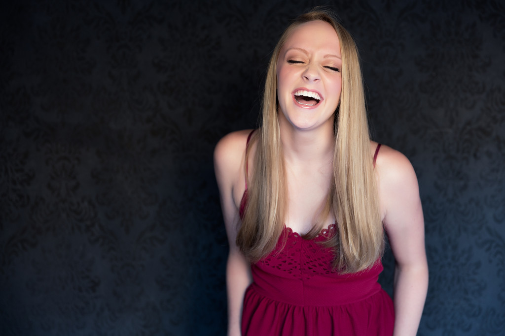 Albemarle High School Senior Portrait enjoys a laugh