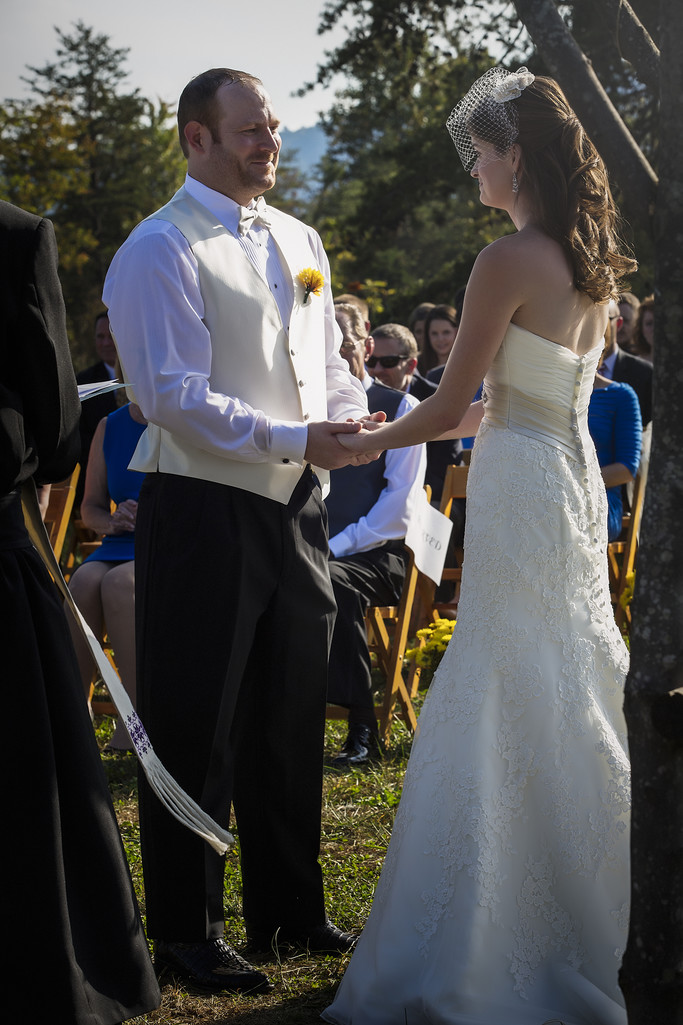 Reciting vows in the Blue Ridge Mountains