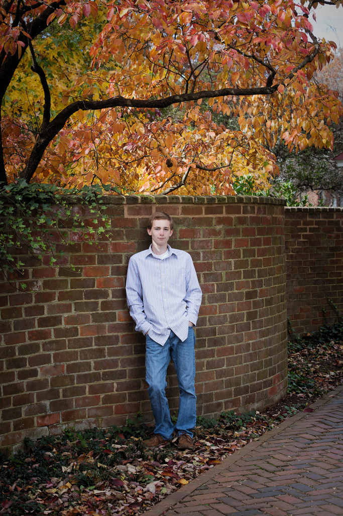 Boys Senior Portrait University of VA Charlottesville
