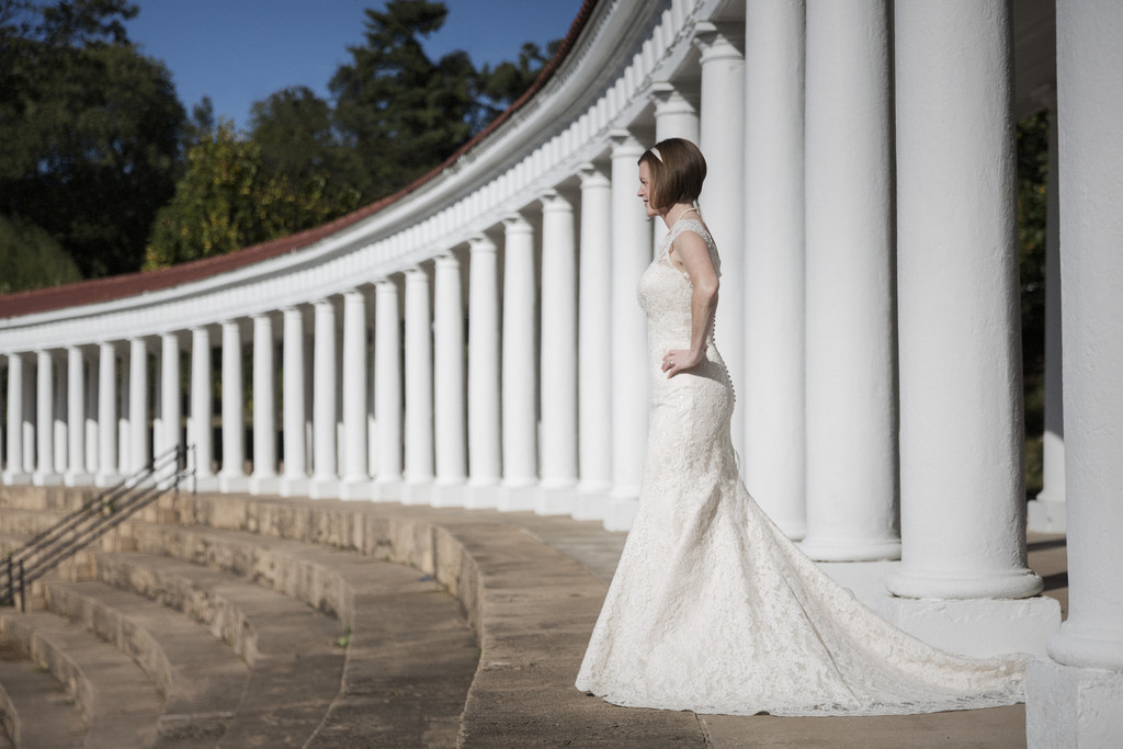 Bridal Portrait at Lambeth Field Charlottesville VA