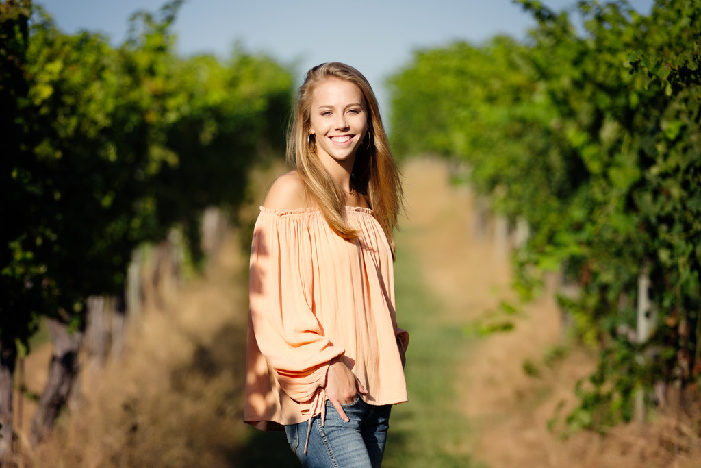 Senior Portrait at Keswick Winery in Charlottesville VA