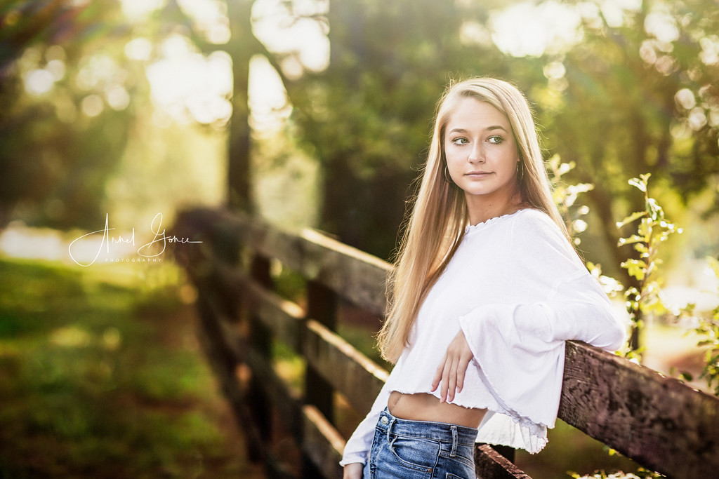 Senior Portrait outdoor session Charlottesville