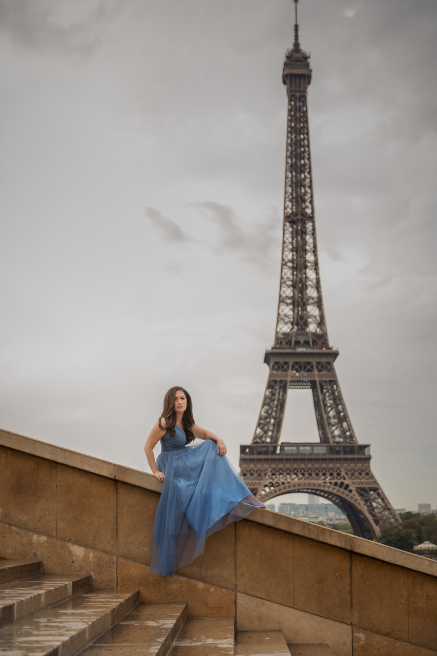 Destination Portrait of a Woman in Paris France