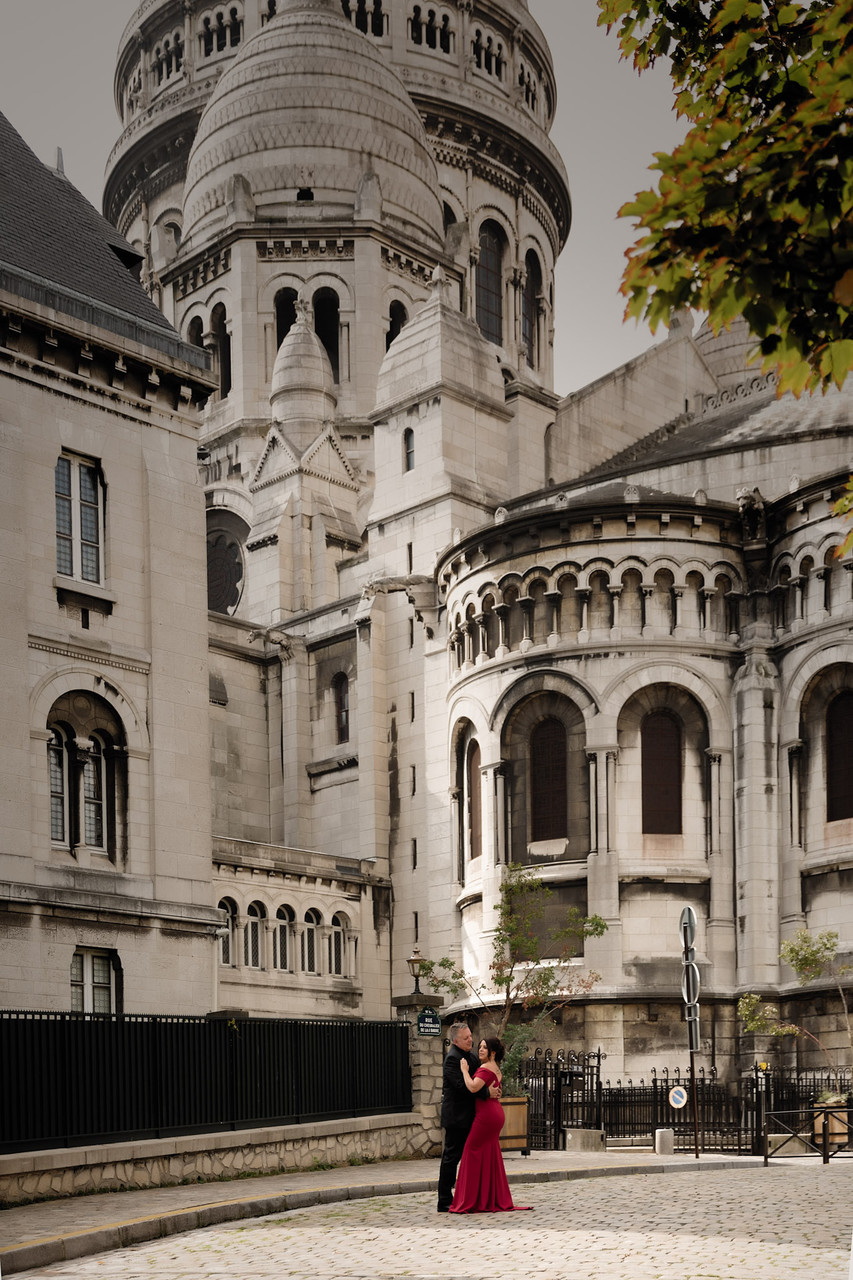 Destination Portrait at Sacre Coeur in Paris France
