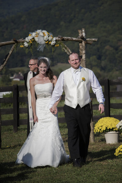 Recessional down the aisle at Montfair Resort Farms