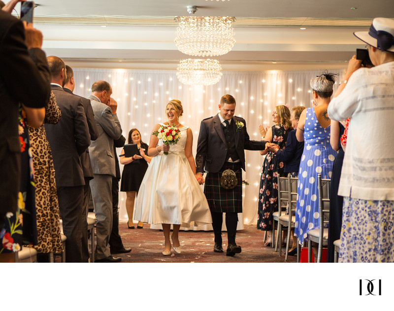 Just Married- Scotland wedding photographer