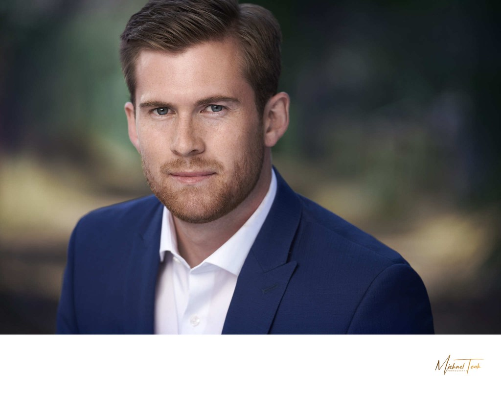 mens cinematic professional business headshot