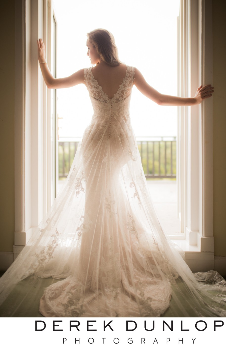 Elegant bridal Dress at Enterkine House Hotel