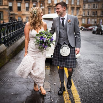 Glasgow wedding photography as featured in Tie the knot