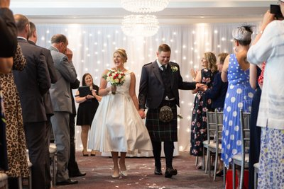 Bride & Groom Just Married - Scotland Photographer