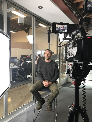 tech company social video production and interview