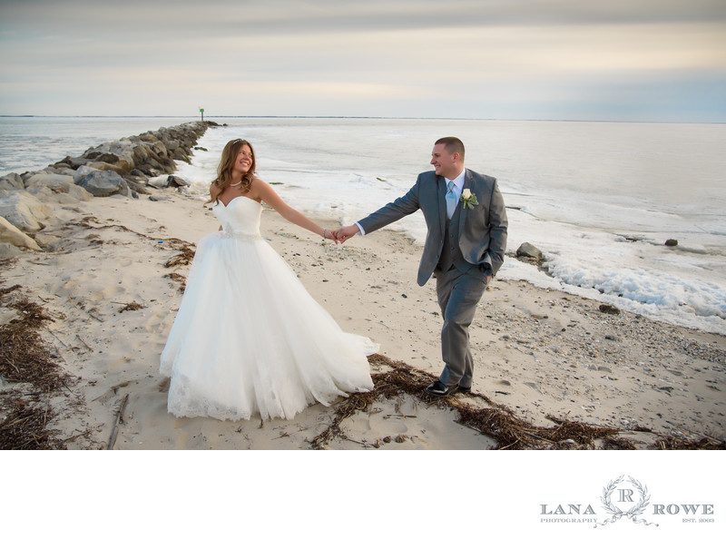 Lands end beach wedding