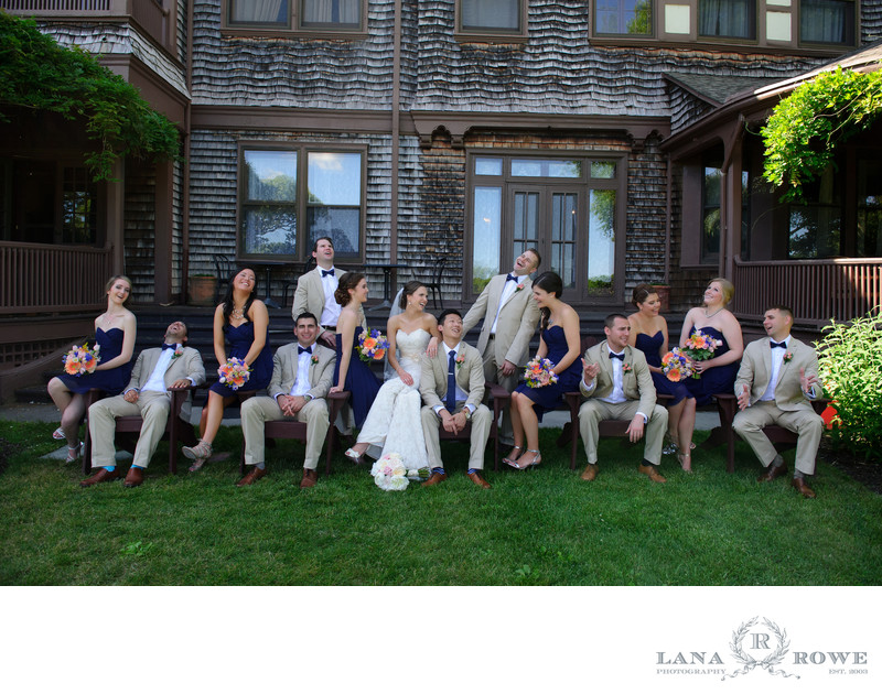 Timber point wedding party